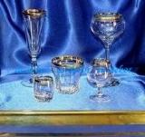 Посуда декорированная золотом